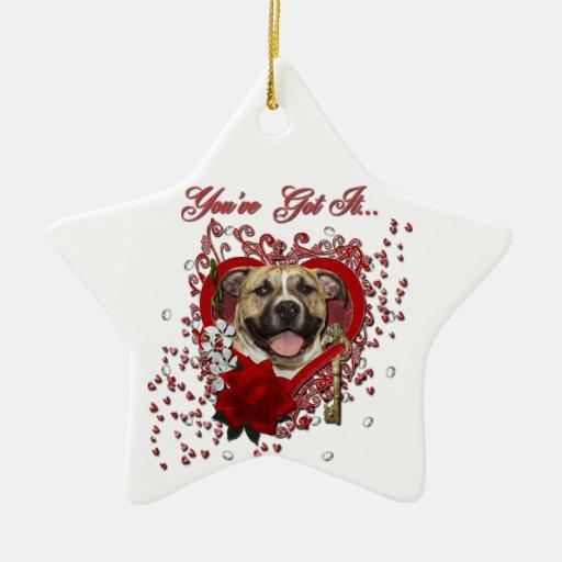 Valentines - Key to My Heart - Pitbull - Tigger Christmas Tree Ornaments