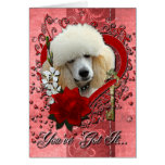 Valentines - Key to My Heart - Poodle - Apricot Card