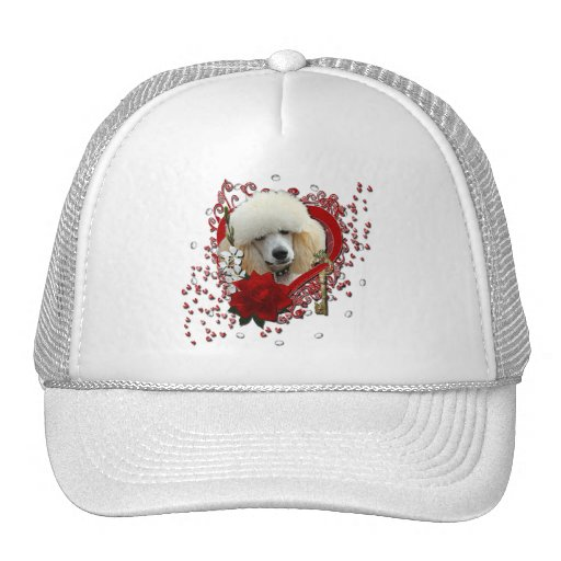 Valentines - Key to My Heart - Poodle - Apricot Trucker Hat