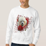 Valentines - Key to My Heart - Poodle - Apricot Pullover Sweatshirt