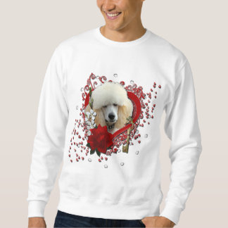 Valentines - Key to My Heart - Poodle - Apricot Sweatshirt
