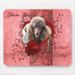 Valentines - Key to My Heart - Poodle - Chocolate Mouse Pad