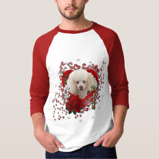 Valentines - Key to My Heart - Poodle - White T-Shirt