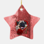 Valentines - Key to My Heart - Pug Ornament