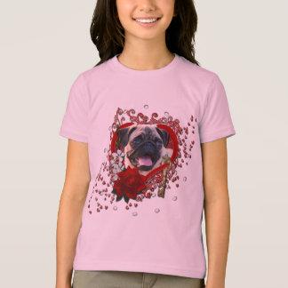 Valentines - Key to My Heart - Pug T-Shirt