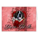 Valentines - Key to My Heart - Saint Bernard - Mae Card