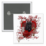 Valentines - Key to My Heart - Schnauzer Buttons
