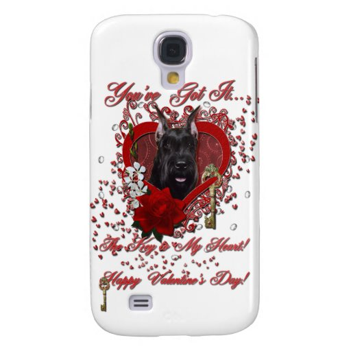 Valentines - Key to My Heart - Schnauzer Galaxy S4 Cover