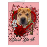 Valentines - Key to My Heart - Shar Pei Cards