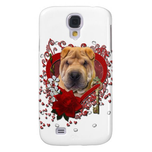 Valentines - Key to My Heart - Shar Pei Samsung Galaxy S4 Covers