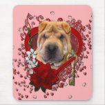 Valentines - Key to My Heart - Shar Pei Mouse Pad