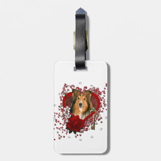 Valentines - Key to My Heart - Sheltie Bag Tag