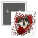Valentines - Key to My Heart - Shiba Inu - Yasha Buttons