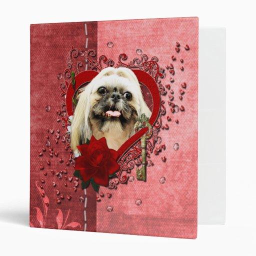 Valentines - Key to My Heart - Shih Tzu - Opal Vinyl Binders