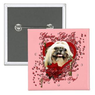 Valentines - Key to My Heart - Shih Tzu - Opal Pin