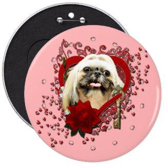 Valentines - Key to My Heart - Shih Tzu - Opal Pins