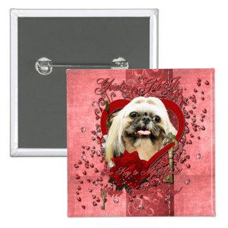 Valentines - Key to My Heart - Shih Tzu - Opal Button