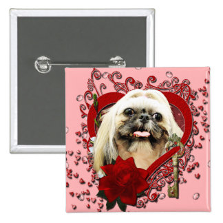 Valentines - Key to My Heart - Shih Tzu - Opal Buttons