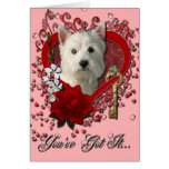 Valentines - Key to My Heart West Highland Terrier Cards