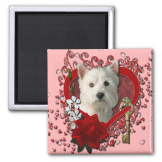 Valentines - Key to My Heart West Highland Terrier Magnet