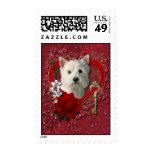 Valentines - Key to My Heart West Highland Terrier Postage