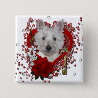 Valentines - Key to My Heart - Westie - Tank Button
