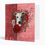 Valentines - Key to My Heart - Whippet Vinyl Binders