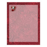 Valentines - Key to My Heart - Whippet Personalized Letterhead