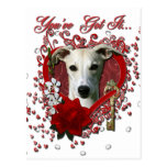Valentines - Key to My Heart - Whippet Post Cards
