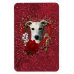 Valentines - Key to My Heart - Whippet Rectangle Magnet