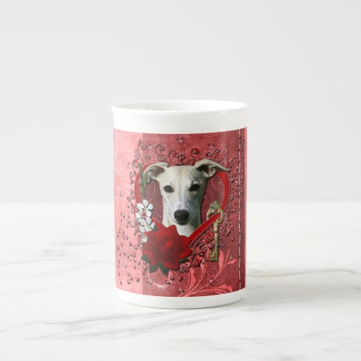 Valentines - Key to My Heart - Whippet Tea Cup