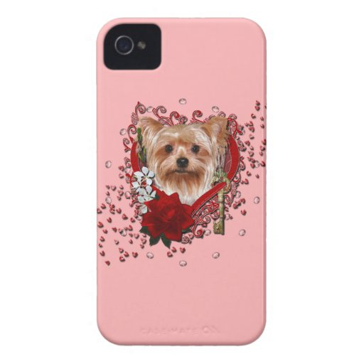 Valentines - Key to My Heart - Yorkshire Terrier Case-Mate iPhone 4 Case