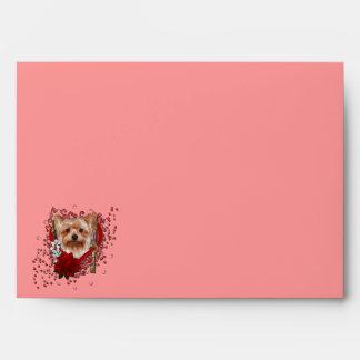 Valentines - Key to My Heart - Yorkshire Terrier Envelopes