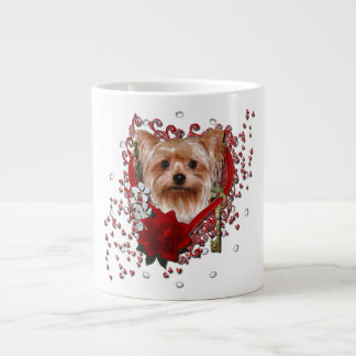 Valentines - Key to My Heart - Yorkshire Terrier Giant Coffee Mug