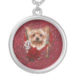 Valentines - Key to My Heart - Yorkshire Terrier Custom Necklace