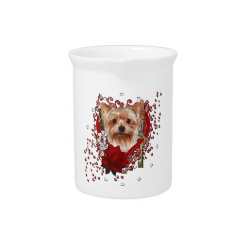 Valentines - Key to My Heart - Yorkshire Terrier Pitchers