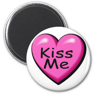 Valentines Kiss Me Heart Magnet