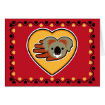 Hand shaped Valentine's Koala card