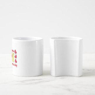 valentines letter cup! coffee mug set