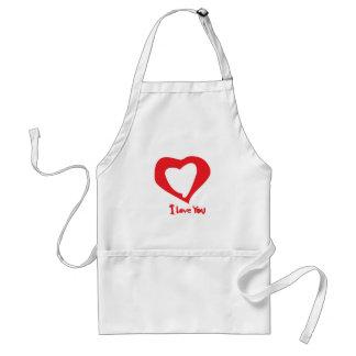 valentines love aprons