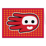 Hand shaped Valentine's Love Card