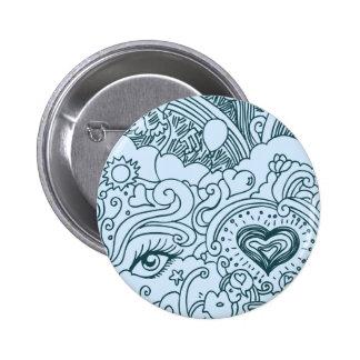 Valentines Love Doodle 2 Inch Round Button