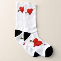 Valentines love heart socks