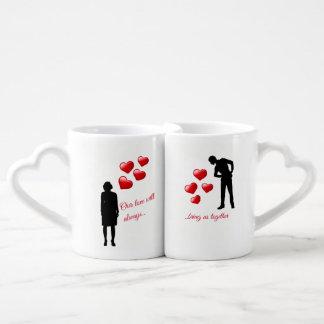 Valentine's Love Mug Set Heart Shaped Handles