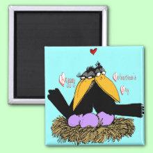 Valentine's Love Nest Magnet