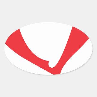 valentines love oval sticker