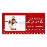 Valentine's Love Personalized Photo Card