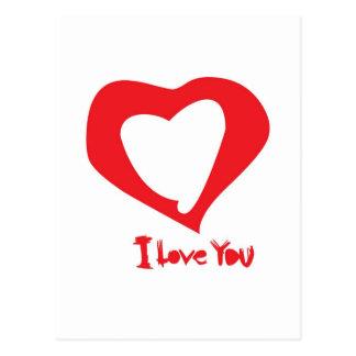 valentines love postcard