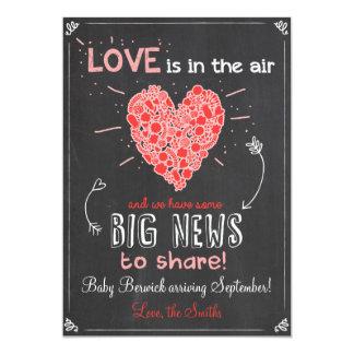 Valentine's Love Pregnancy Reveal Announcement