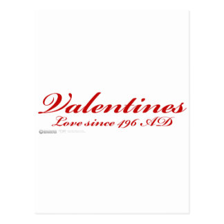 Valentines Love Since 496AD - heart day christian Postcard